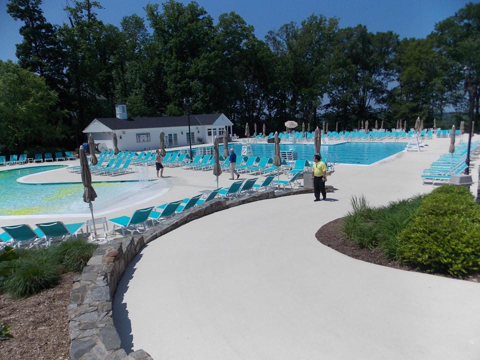 commercial concrete pool deck refinishing