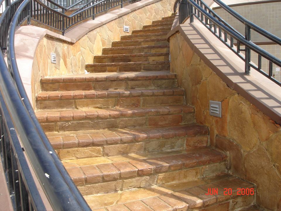 decorative concrete resurfacing stairway los angeles