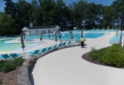 commercial concrete pool deck refinishing