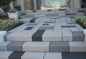 commercial decorative concrete front entry los angeles