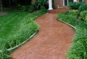 commercial stamped concrete walkway los angeles