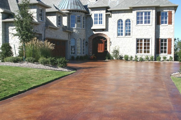 stained concrete driveway los angeles