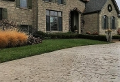 los angeles stamped concrete driveway
