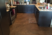 interior floor staining