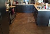 interior floor staining