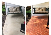 colored concrete patio los angeles