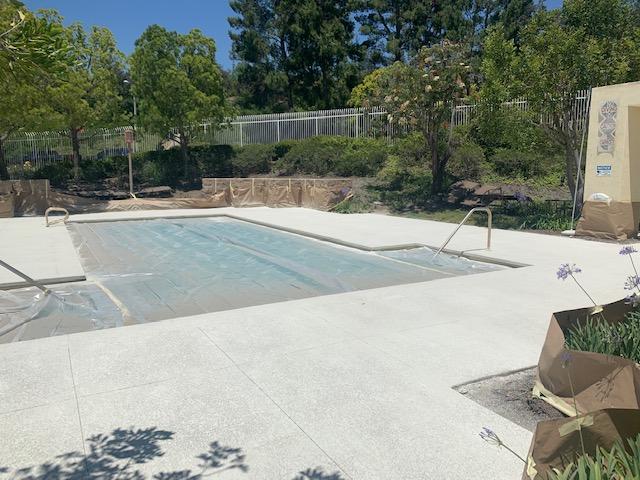los angeles concrete pool deck