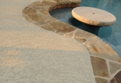 cool decking w/ stamped overlay coping