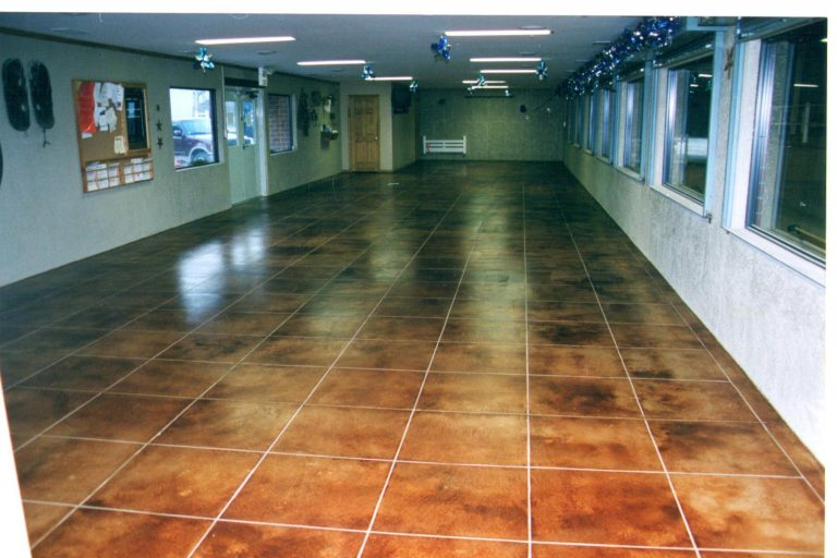 stained concrete garage floors