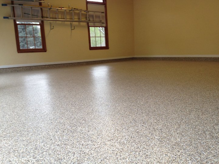 epoxy flooring with chips