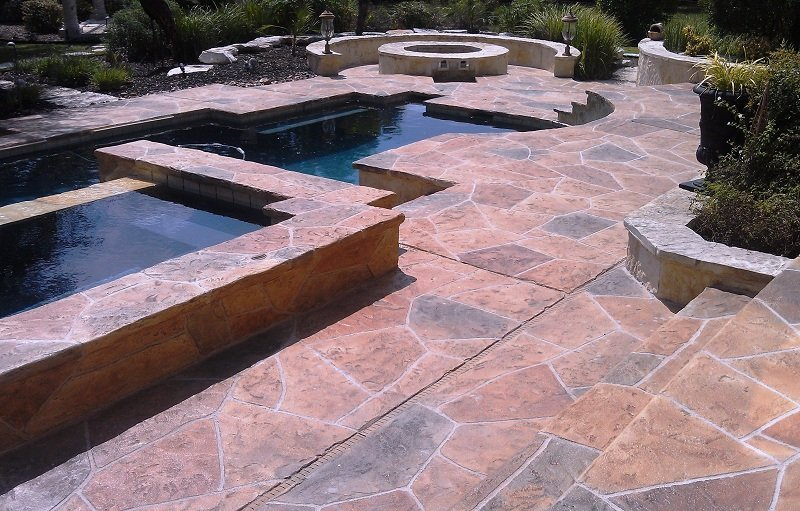 stamped concrete patterns los angeles