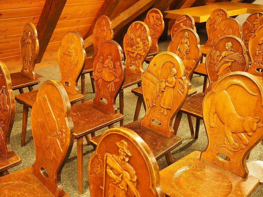chairs carved wood wood carving