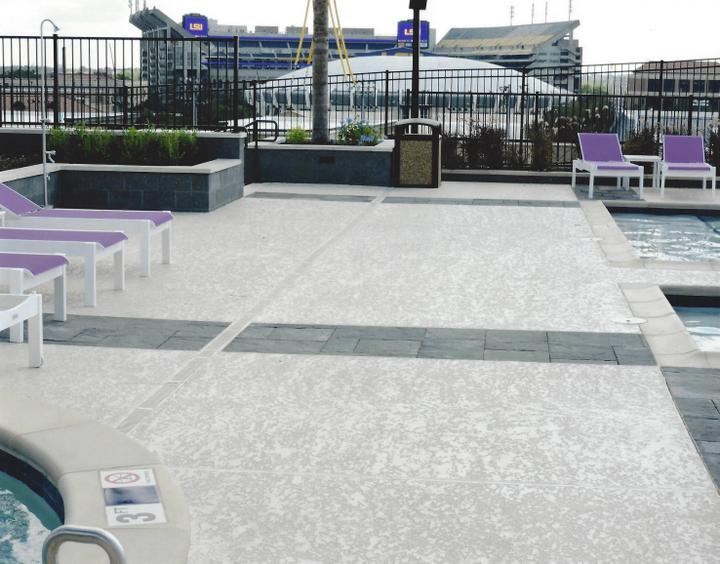 commercial pool deck