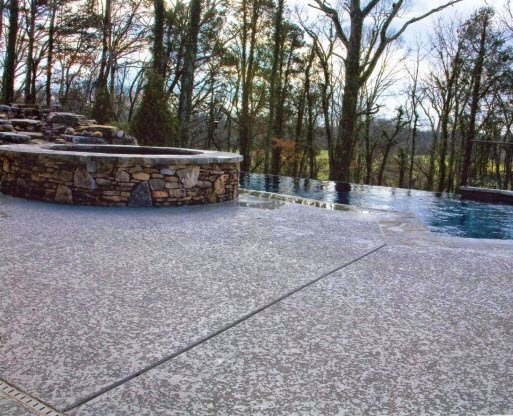 Pool deck with Classic Spray Knockdown Texture