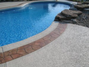 resurfaced concrete pool deck in Glendale, CA