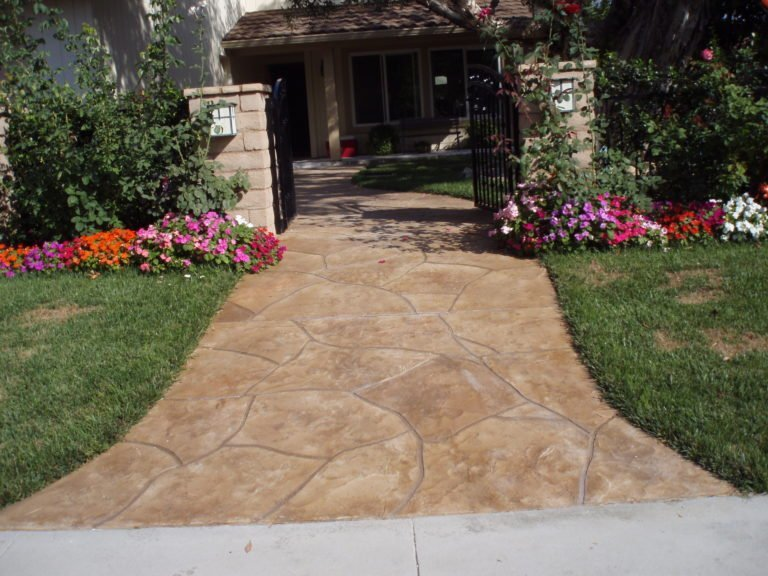 stamped concrete entryway los angeles ca