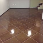 concrete stained garage floor