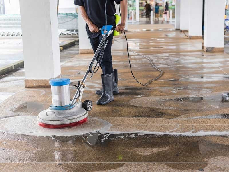 concrete-refinishing-resurfacing-contractors-cleaning-the-floor-for-preparation