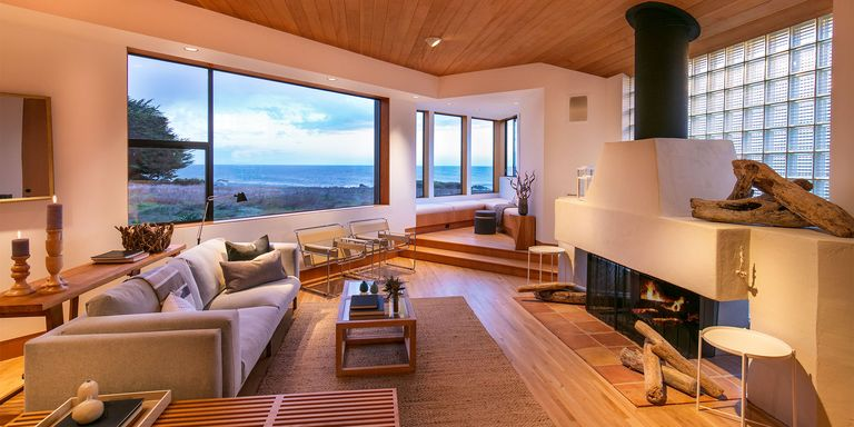 fancy living room with hardwood floor